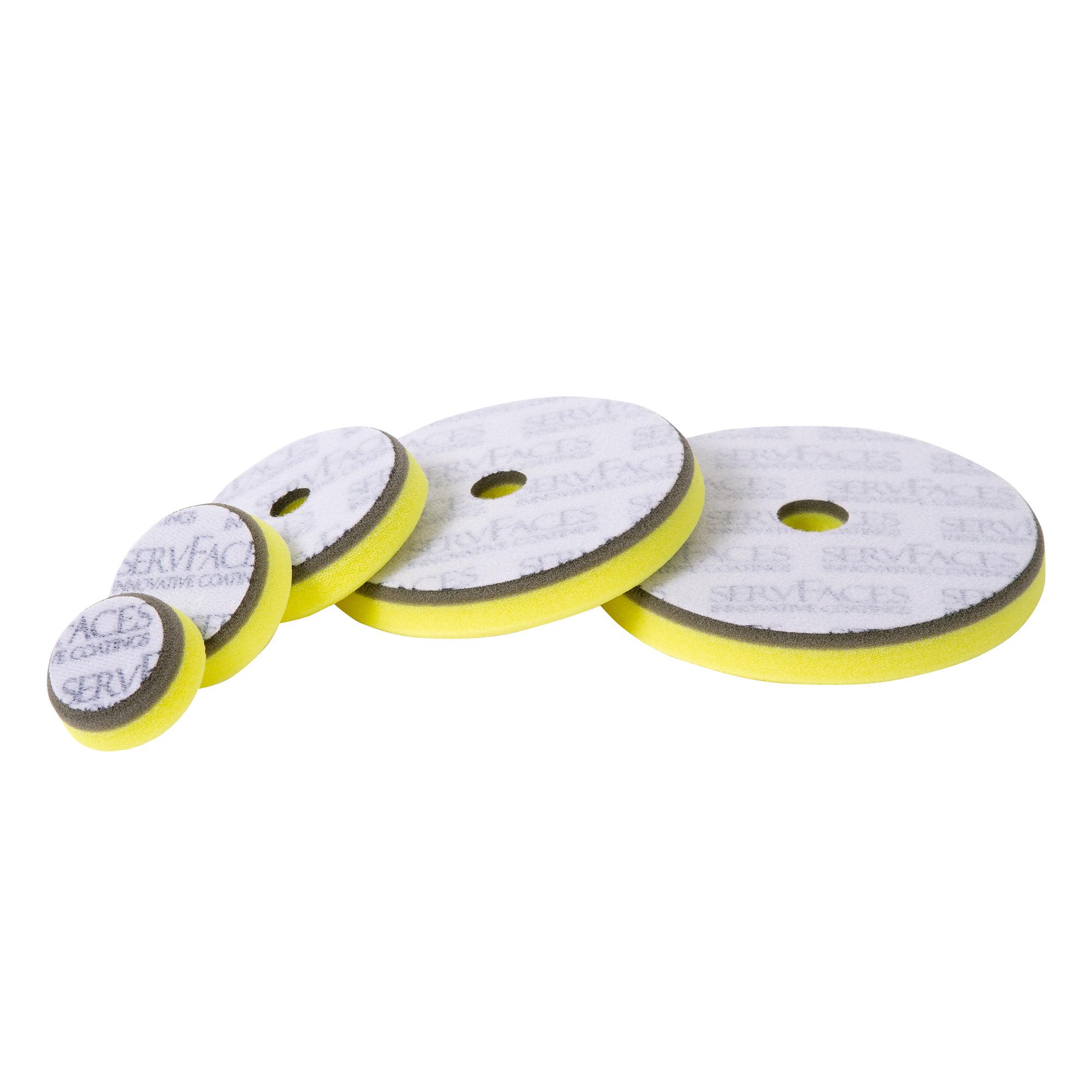 Polierschwamm V1 (grau/gelb-hart, offenzellig)